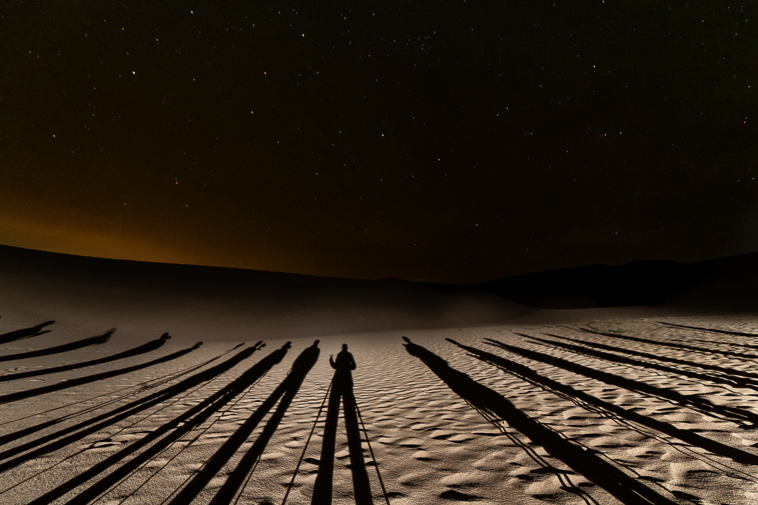 Great Sand Dunes Light Painting