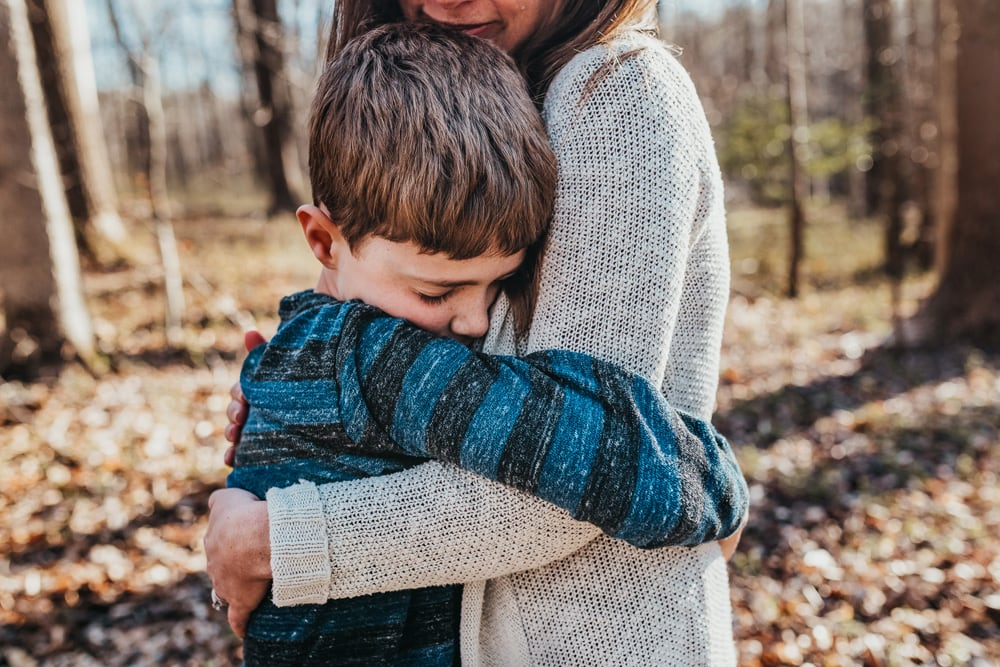 San Diego Family Photography, mother hugging their son