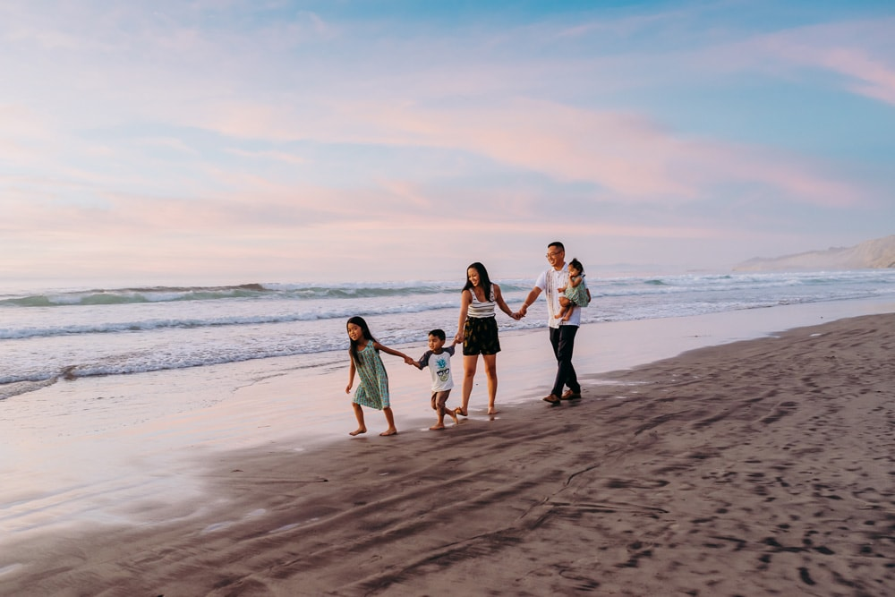 San Diego Family Photography, Andora Photography, family at the beach