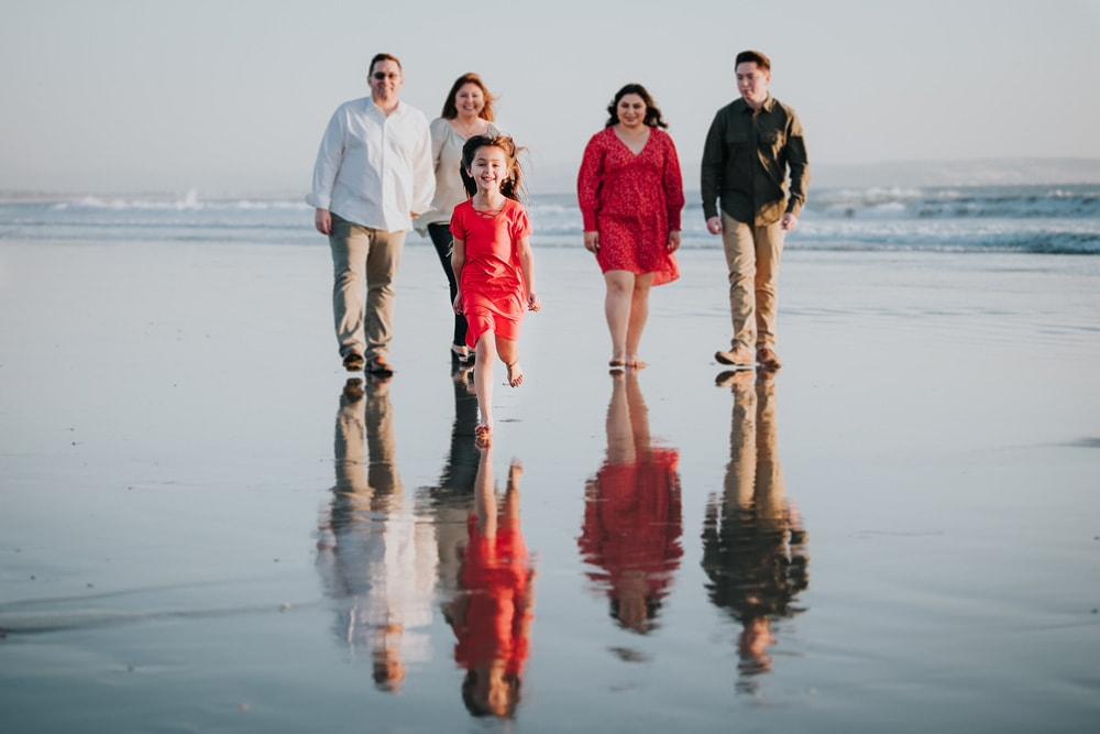 San Diego Family Photography, family of five by the water