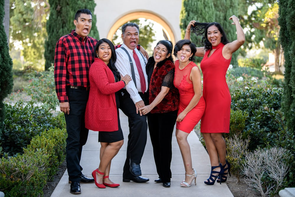 San Diego Family Photography, multi generational family being silly together