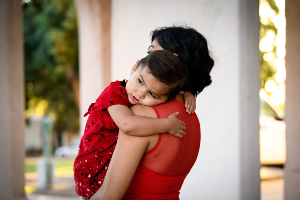 San Diego Family Photography, mother holding child