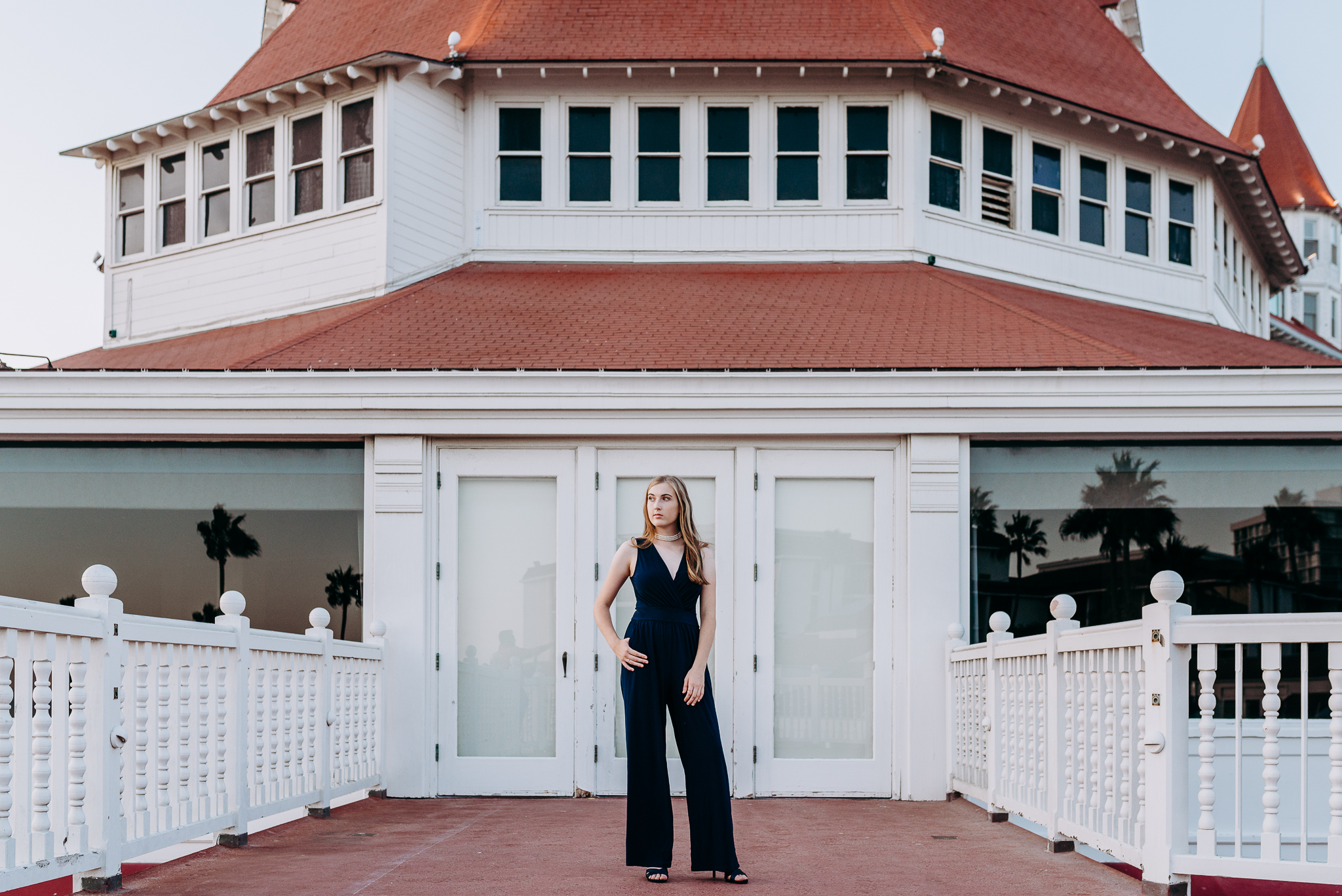 Coronado Senior Portrait at Hotel Del