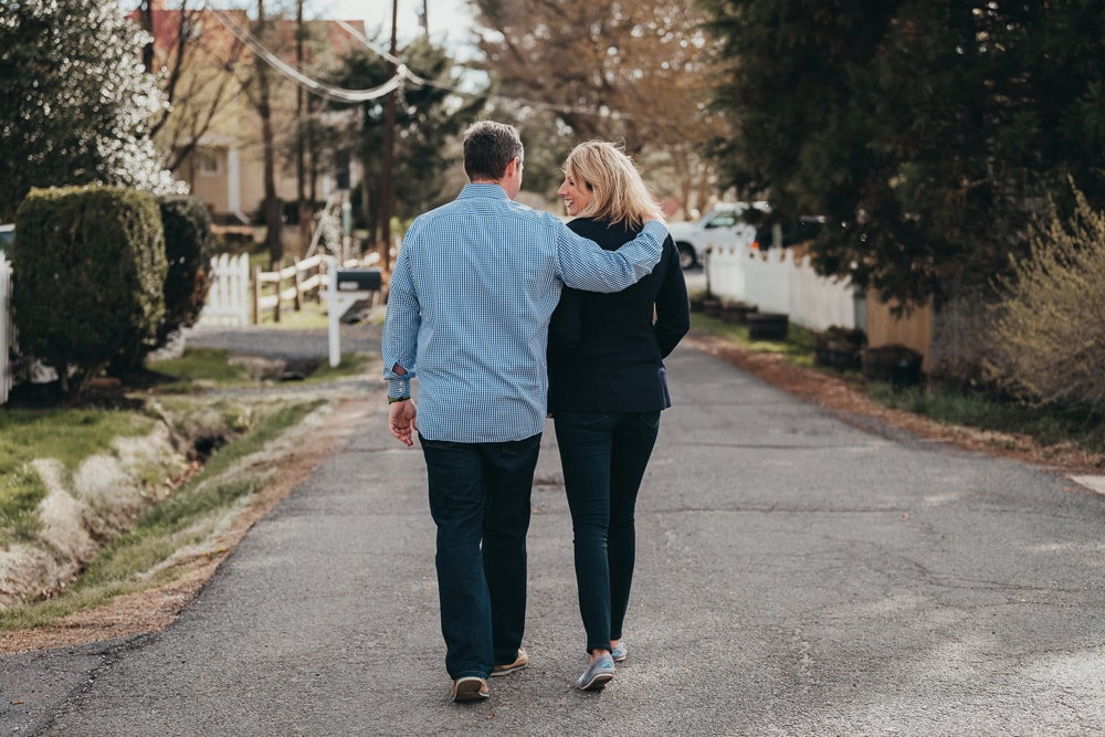San Diego Couples Photography, couple walking down the street together