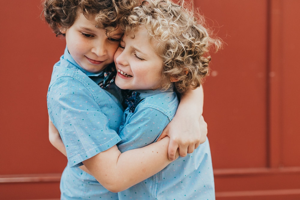 San Diego Children Photography, brothers hugging each other