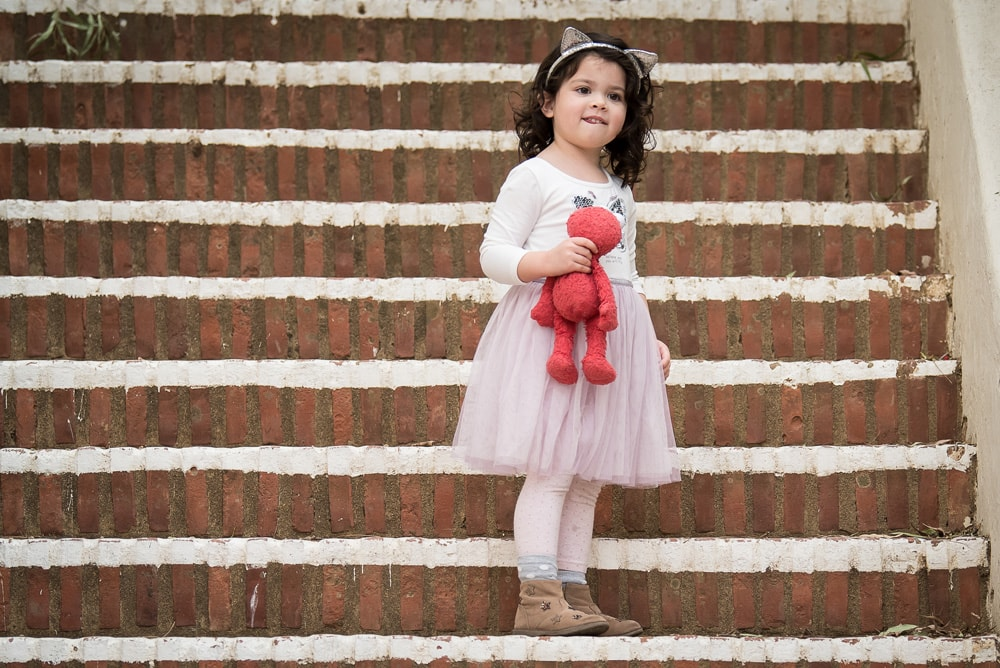 San Diego Children Photography, little girl in pink with elmo doll