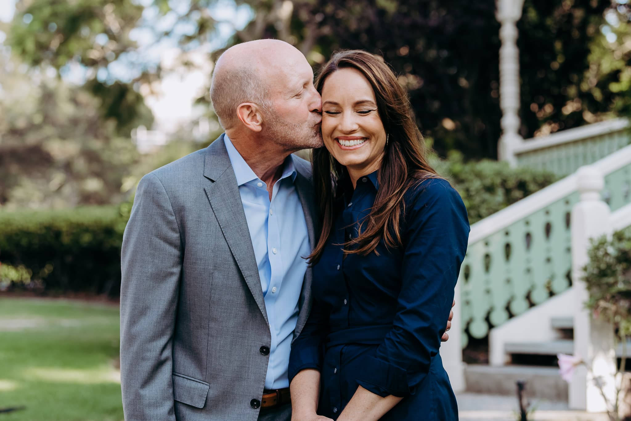 San Diego Couples Photography, Husband kissing wife's cheek