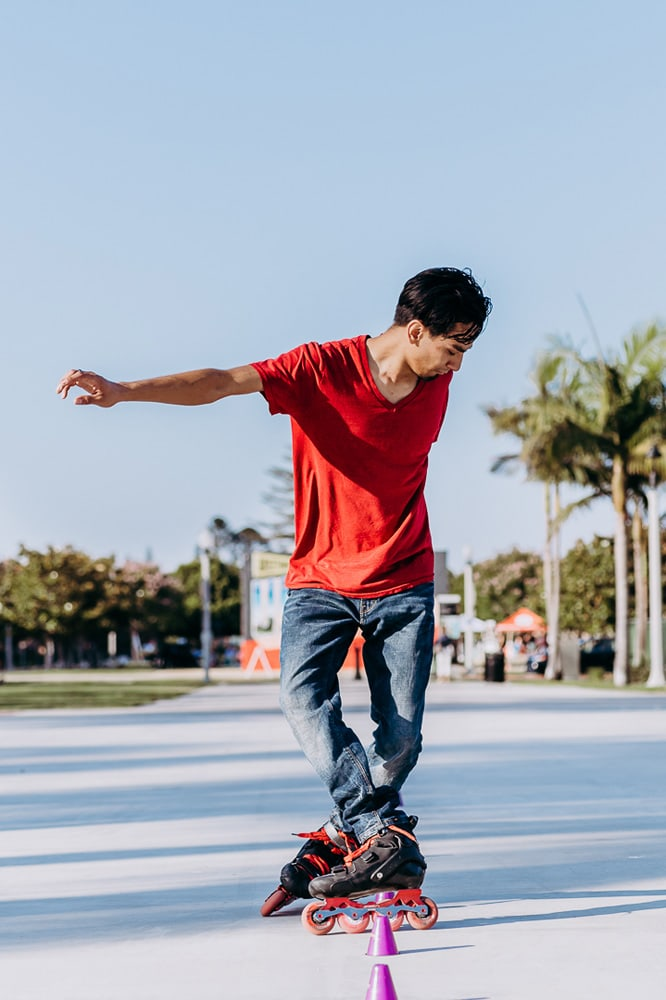 Individual Portrait Photography, man rollerblading
