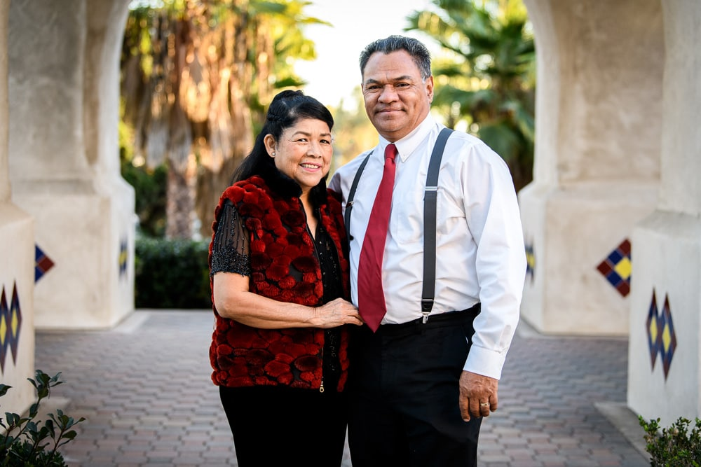 San Diego Couples Photography, older couple in matching outfits