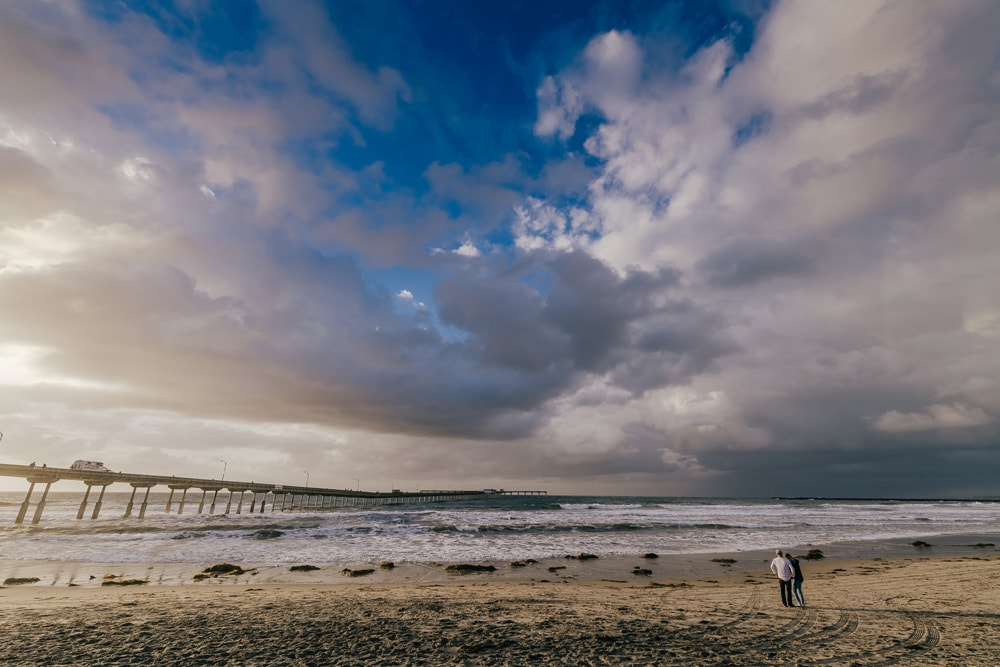 Landscape and Macro Photography, cloudy shot of ocean beach