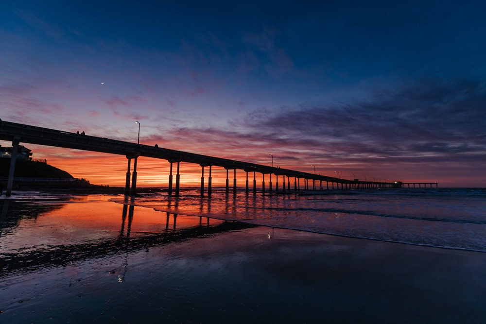 Landscape and Macro Photography, ocean beach pier at sunset