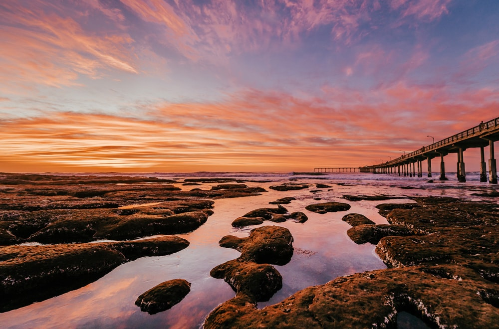 Landscape and Macro Photography, tide pools at sunset